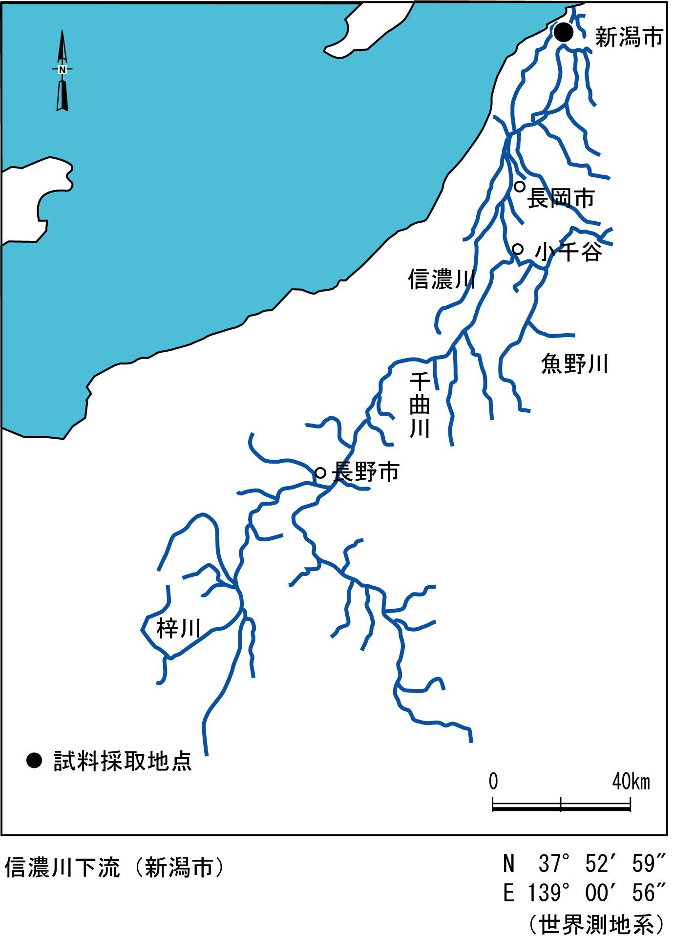 地図 信濃 川 千曲川河川事務所 河川情報(水位、雨量、水質、全国の雨量及び水位)