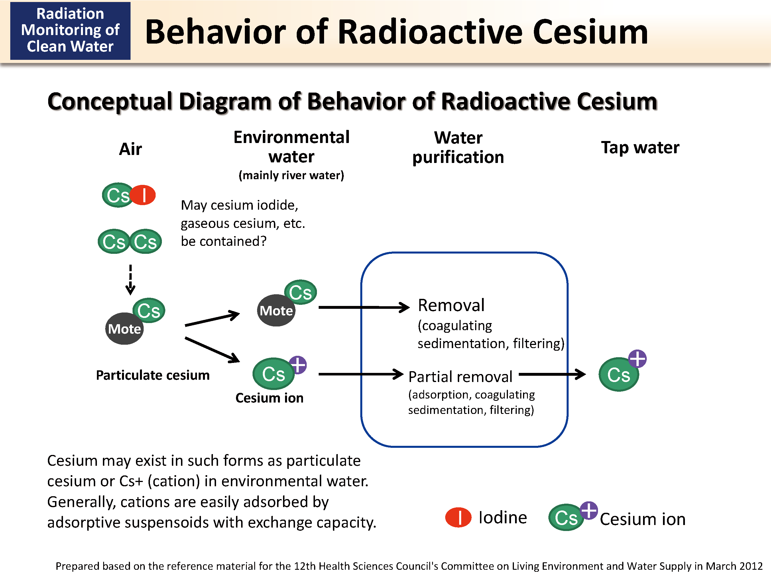 Behavior of Radioactive Cesium [MOE]