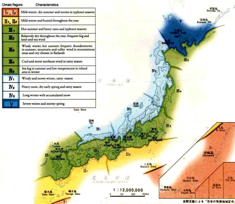 VARIETY OF VEGETATION WETLAND IN JAPAN MOE - Japan climate zone map