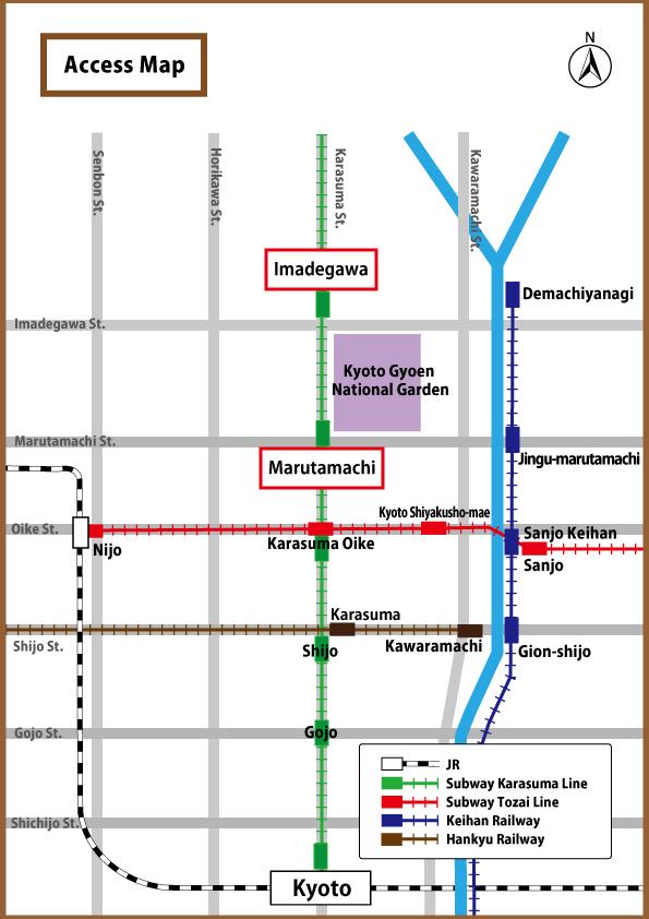 Subway Map Kyoto English.環境省 English Kyoto Gyoen National Garden Ministry Of The