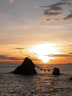 photo of Sunrise of the Meoto Iwa Rocks