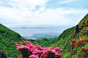 photo of Ariake Sea and Amakusa Islands Viewed from Mt. Unzen