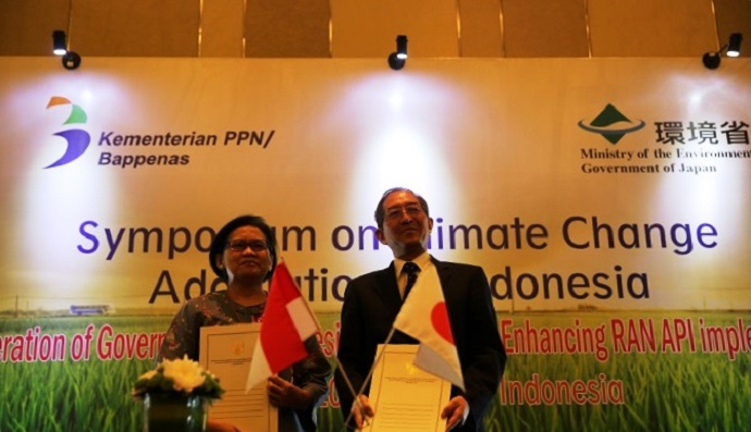 Letter of Intent (LOI) on Cooperation of Government of Japan and Indonesia for Enhancing Indonesian Climate Change Adaptation Planning Signed