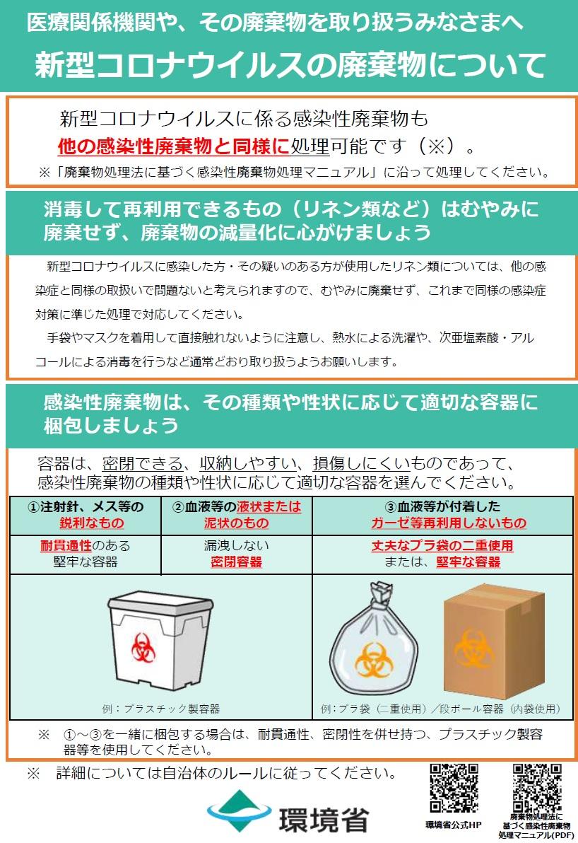 環境省_廃棄物処理における新型コロナウイルス感染症対策に関するQ&A ...